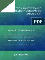 Proyecto Arquitectonico Del Teatro