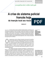 A Crise Do Sistema Policial Frances Hoje-etc.