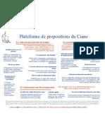 Plateforme propositions du Ciane pour les politiques de santé en périnatalité (2006)