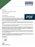 DA letter