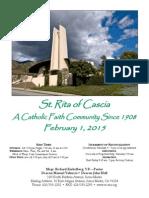 Saint Rita Parish Bulletin 2/1/2015