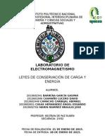 Practica 5 Electromagnetismo Leyes de Conservacion de Carga y Energia