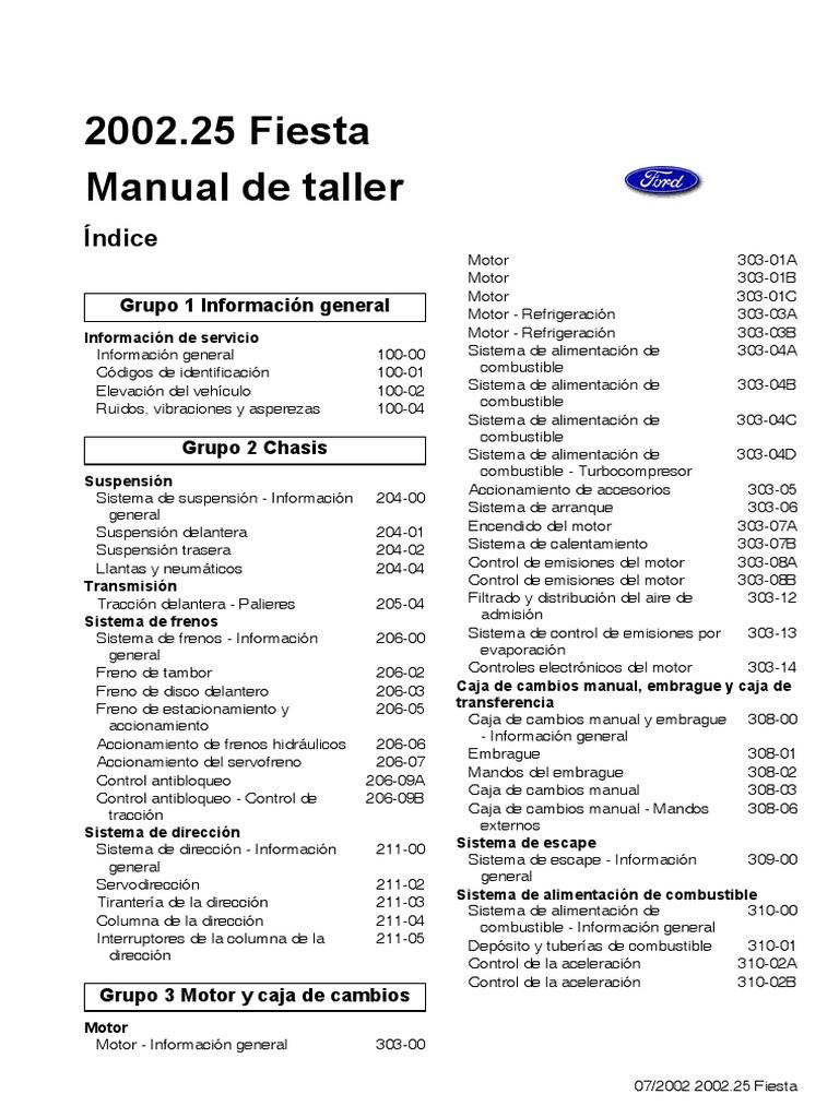 manual ford fiesta motor 1 6 rh es scribd com manual ford fiesta 2003 personalite manual ford fiesta 2011 download