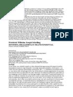 Friedrich Wilhelm Joseph Schelling - Sistemul Idealismului Transcedental