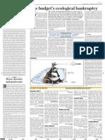 Economic Survey and Sustainability