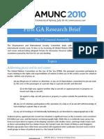 First GA Research Brief