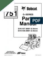 PDF Bobcat 751 Parts Manual Sn 515730001 and Above Sn 515620001 and Above