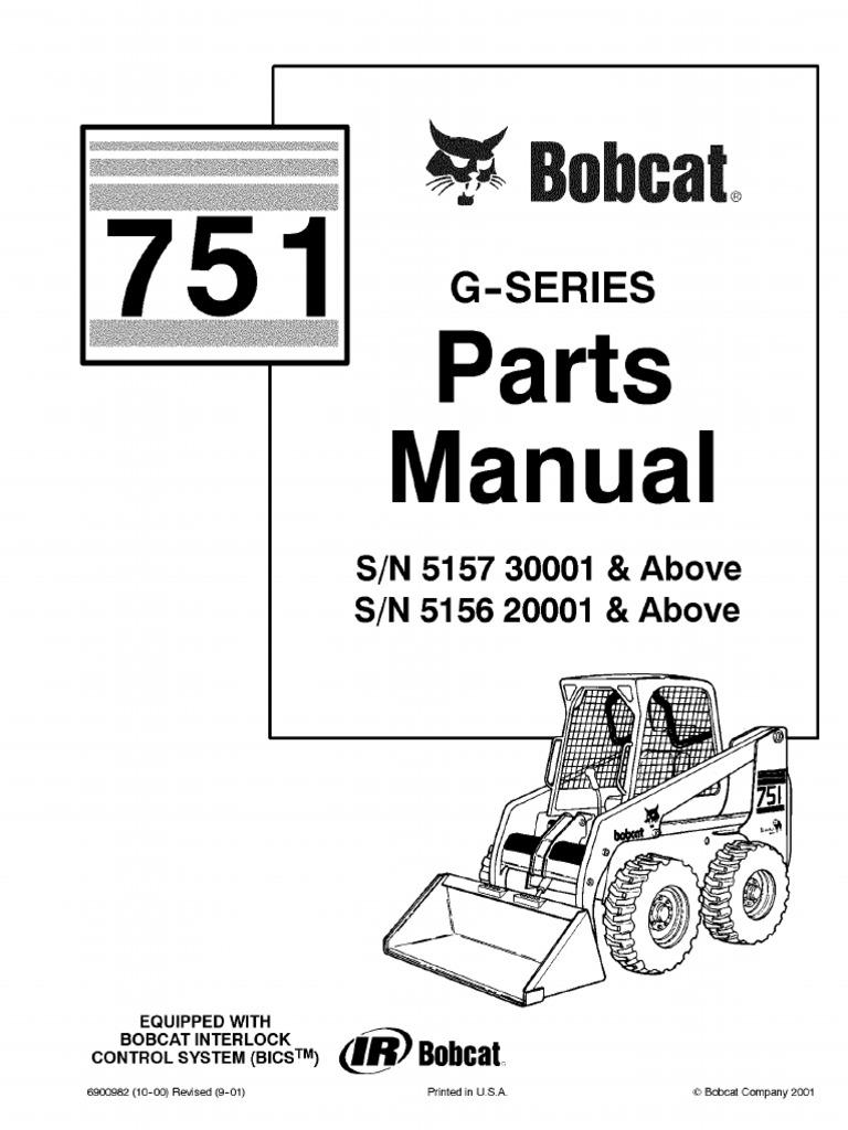 PDF Bobcat 751 Parts Manual Sn 515730001 and Above Sn 515620001 and Above |  Valve | ScrewScribd