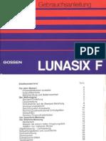 Gossen LUNASIX F Gebrauchsanleitung