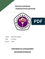 Peranan Koperasi Dalam Pembangunan Ekonomi