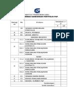 Senarai Semak Portfolio P&P