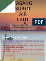 Pasang Surut Air Laut ppt