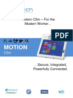 Motion Computing C5m Datasheet