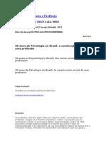 50 Anos de Psicologia No Brasil a Construção Social de Uma Profissão