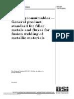 Bs en 13479-2004 焊s接消耗品.金属sdas材料熔焊用填充金属和焊剂的一般产品标准