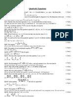 Quadritic Equation