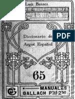 Besses, Luis. Diccionario de argot español