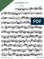Bach Violin Concerto No. 1 a Minor