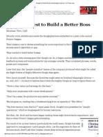 Googles Quest to Build a Better Boss
