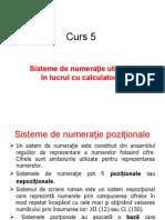 Curs 5 Sisteme Numeratie