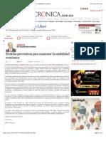 La Crónica de Hoy | Medidas preventivas para mantener la estabilidad económica
