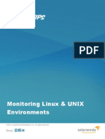 Monitoring Linux Unix Environments -Solarwinds