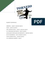 Equipes Confirmadas Torneio Corpo Em Au00c7u00c3o 2015