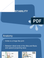 Acute Ankle Instability