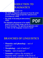 1. Introduction to Pragmatics