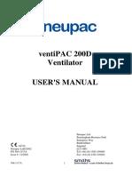 Smiths Pneupac Ventipac Operator