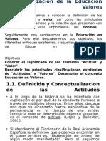 1.1. Conceptualizacion y Definicion de Las Actitudes
