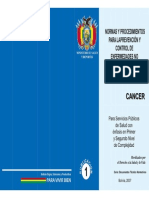 Normas y Procedimientos para la prevencion de control de enfermedades no transmisibles y sus factores de riesgo - Cancer
