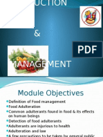 Food Production & Management