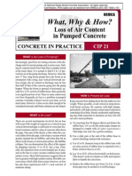 CIP21-Loss of Air Content in Pumped Concrete