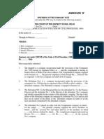 Format on Handbook Court Matter