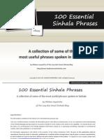 100 Essential Sinhala Phrases Dilshan Jayasinha