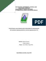 094- Control Interno Como Elemento Para La Efectividad de La Administración de Inventarios