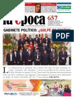 Bolivia - Semanario La Época, Nº 657 (Del Domingo 1 Al Sábado 7 de Febrero de 2015)