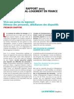 Synthèse du rapport 2015 de la Fondation Abbé-Pierre sur l'état du mal-logement en France