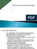 Primary Selective Demand Strategies