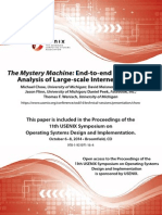 The Mystery Machine, End-To-End Performance Analysis of Large-scale Internet Services - Chow, Meisner, Flinn, Peek, Wenisch