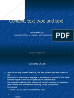 Context, text type and text