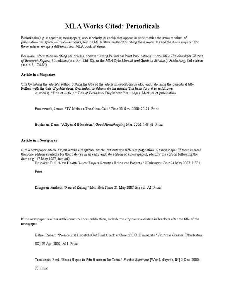mla format for an article How to write a bibliography using modern language association (mla) works cited format.