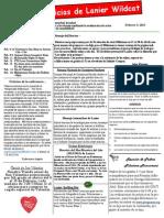 February 2015 Newsletter Spanish
