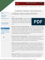 Michael Harris IU Kokomo, Achievements 2010 - 2011, Michael Harris Chancellor