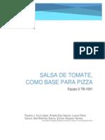 Diseño de Planta para producción de salsa de tomate