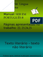 Modos literários e textos literários ou não- Ana Lopes 8ºA Nº4