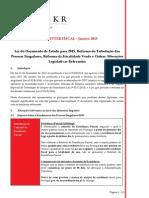 Newsletter Fiscal - Janeiro 2015