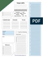 Planner Sheet Blank