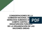 Recomendaciones de la CNDH contra la desaparición en México